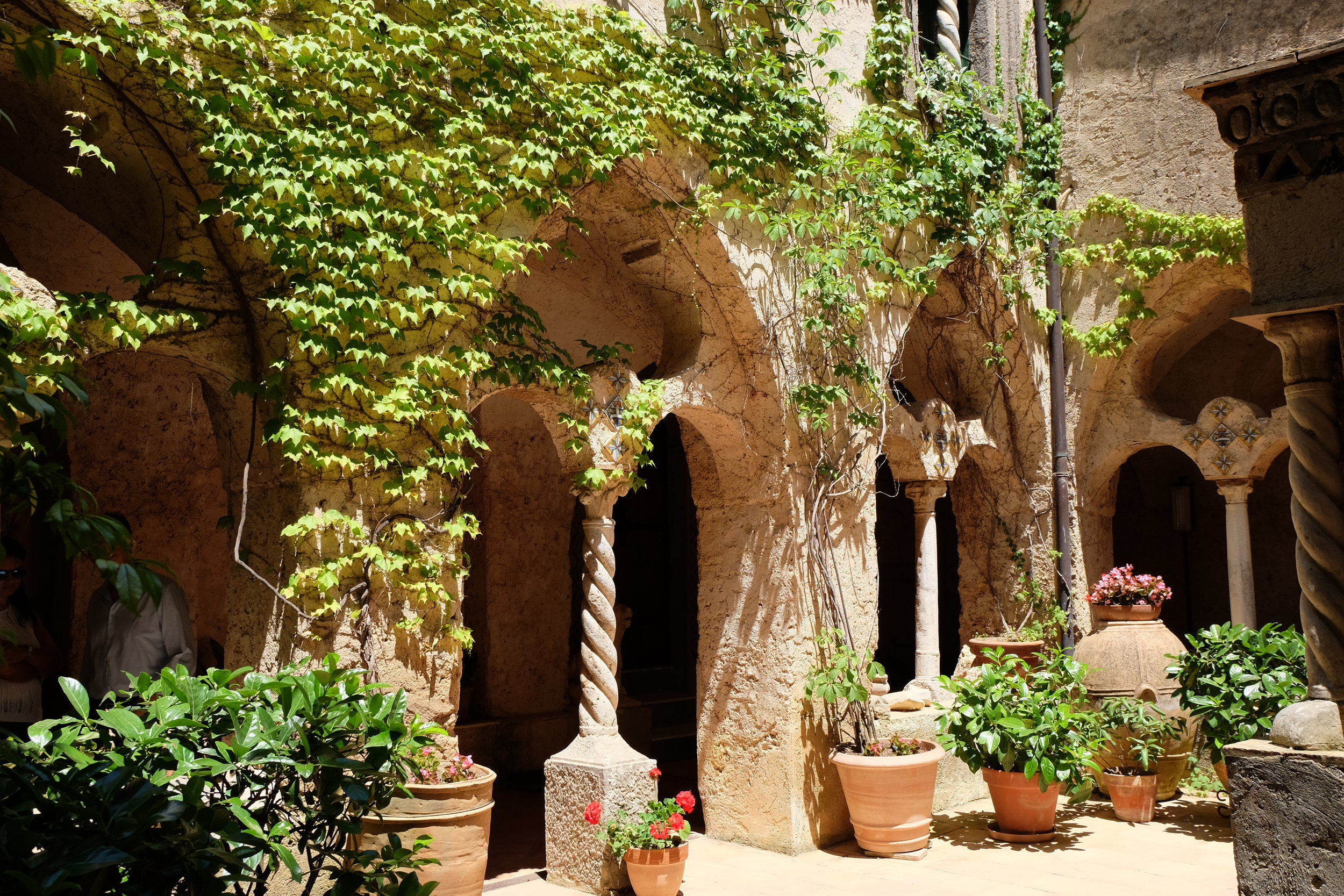 The cloister in the villa.