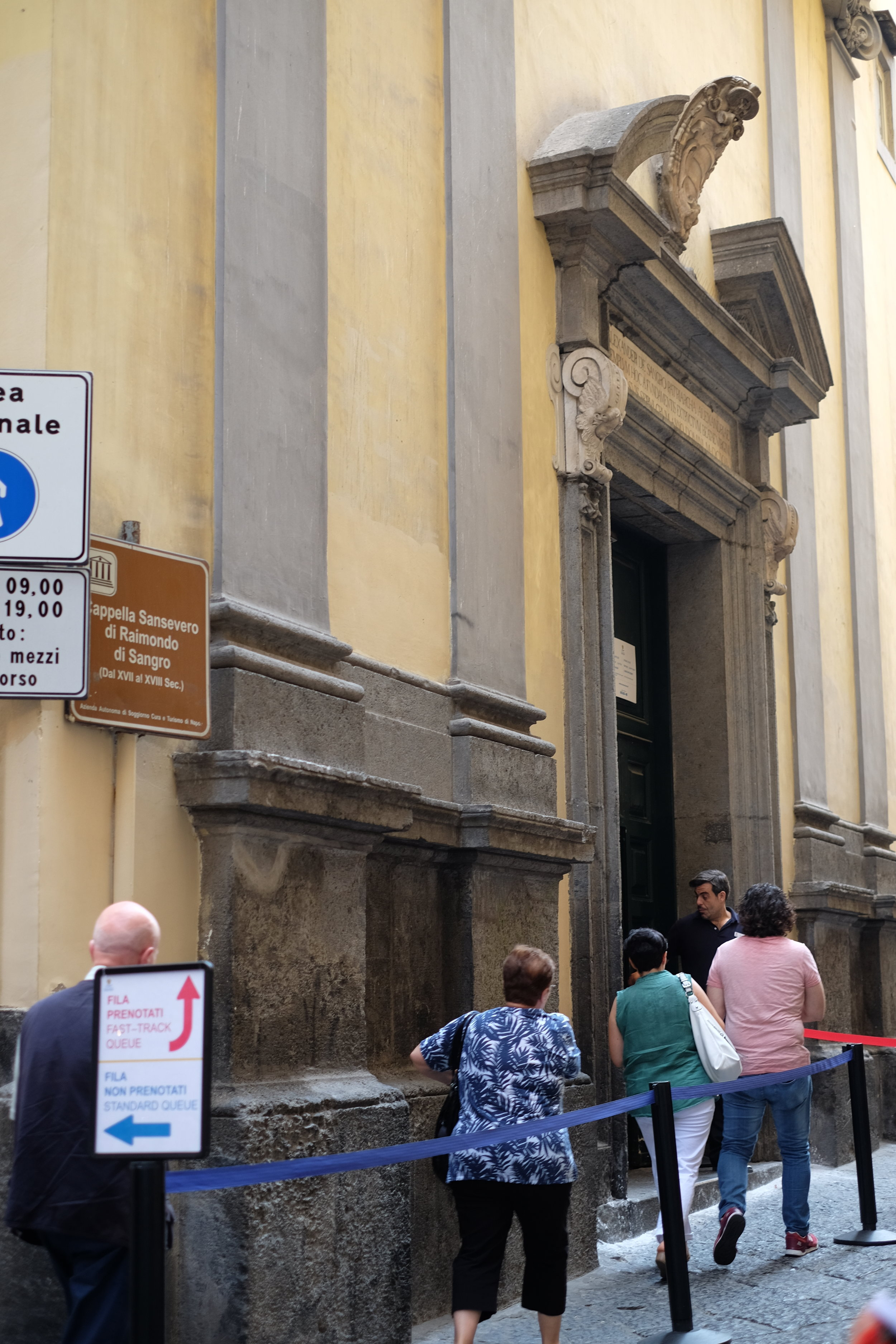 Entrance of the Sansevero chapel.