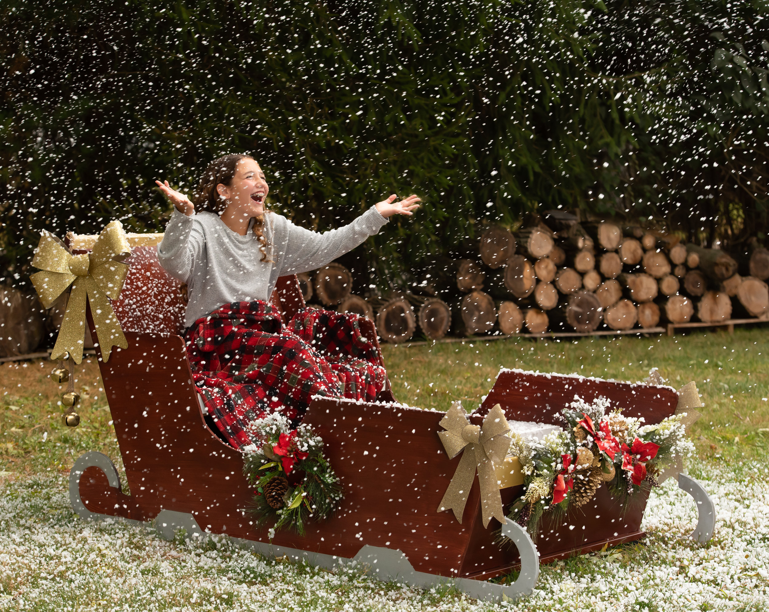 It's READY! - 2019 Holiday Mini Session - Sleigh with SNOW MACHINE!