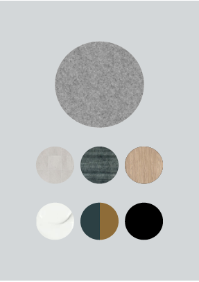 Material and colour palette