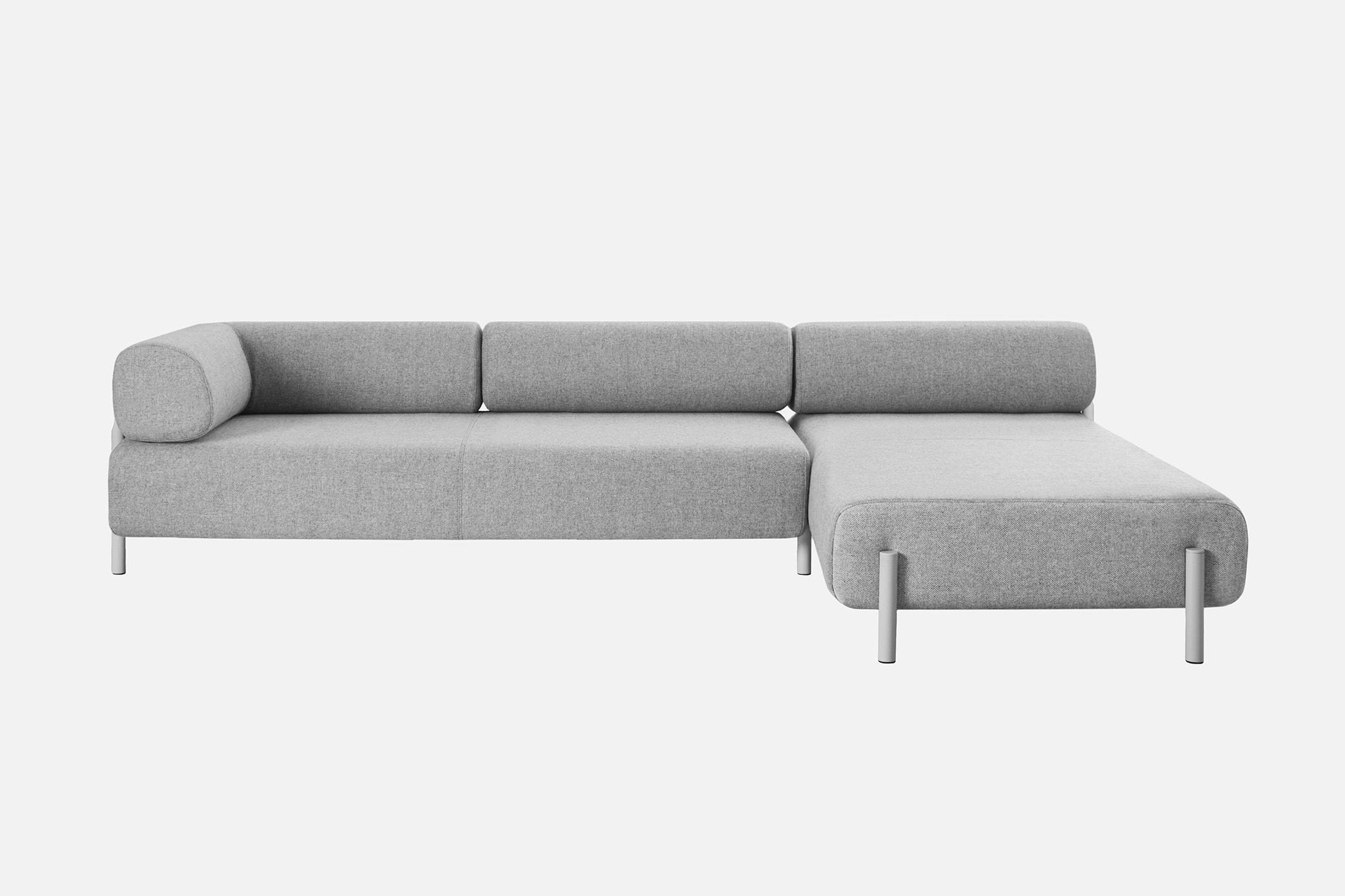 chaise longue corner sofa in soft wool