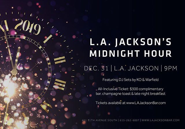 Nashville! Thompson Nashville's @lajacksonbar is bringing in the New Year with myself and my brother @djko ! These tickets will sell out so her them fast! 🕺🏼🎷🍾 Link in bio for tickets!