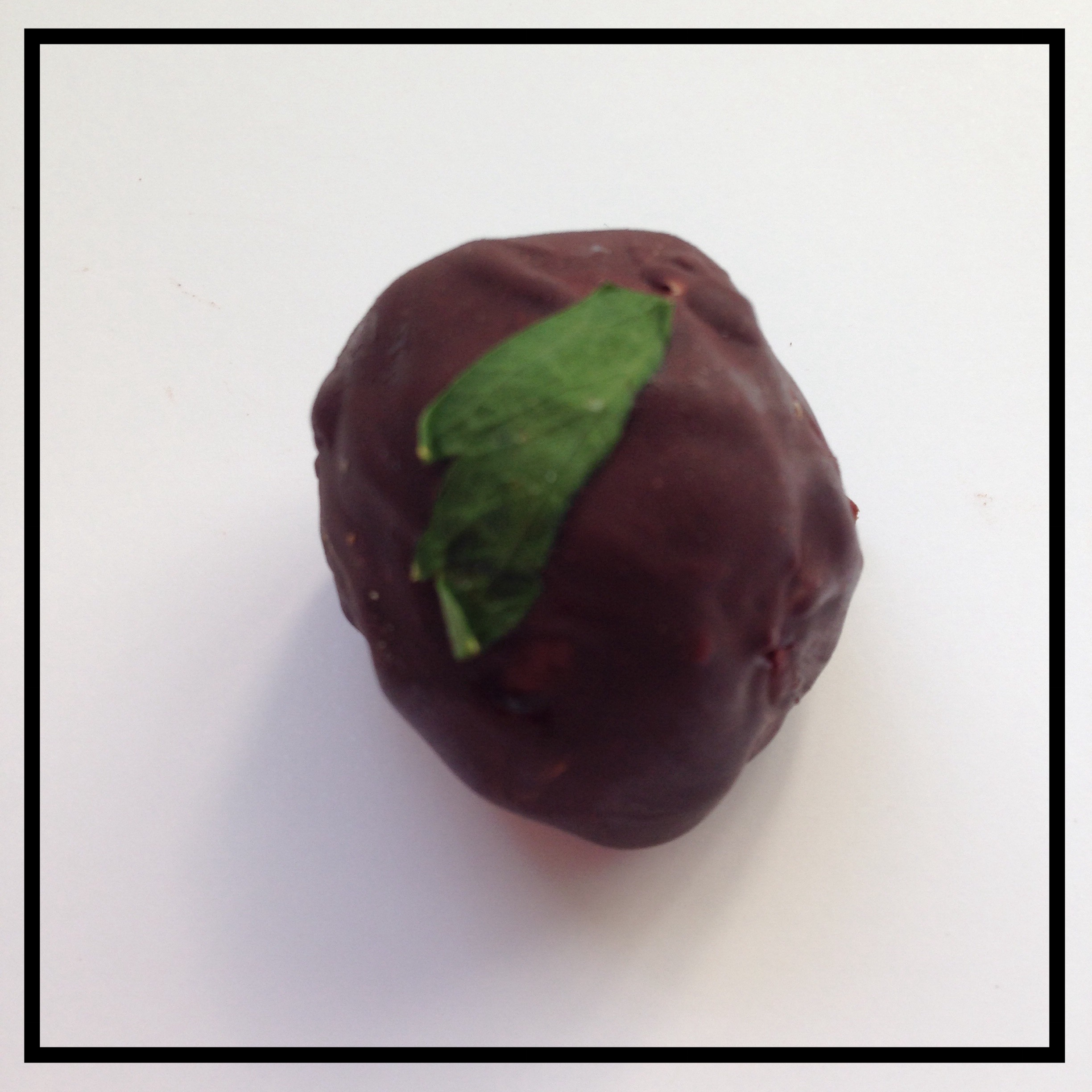 MINT   Chocolate ganache infused with garden mint