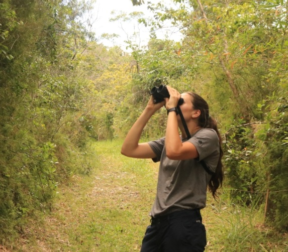 Kirsten birdwatching in Maricao State Forest