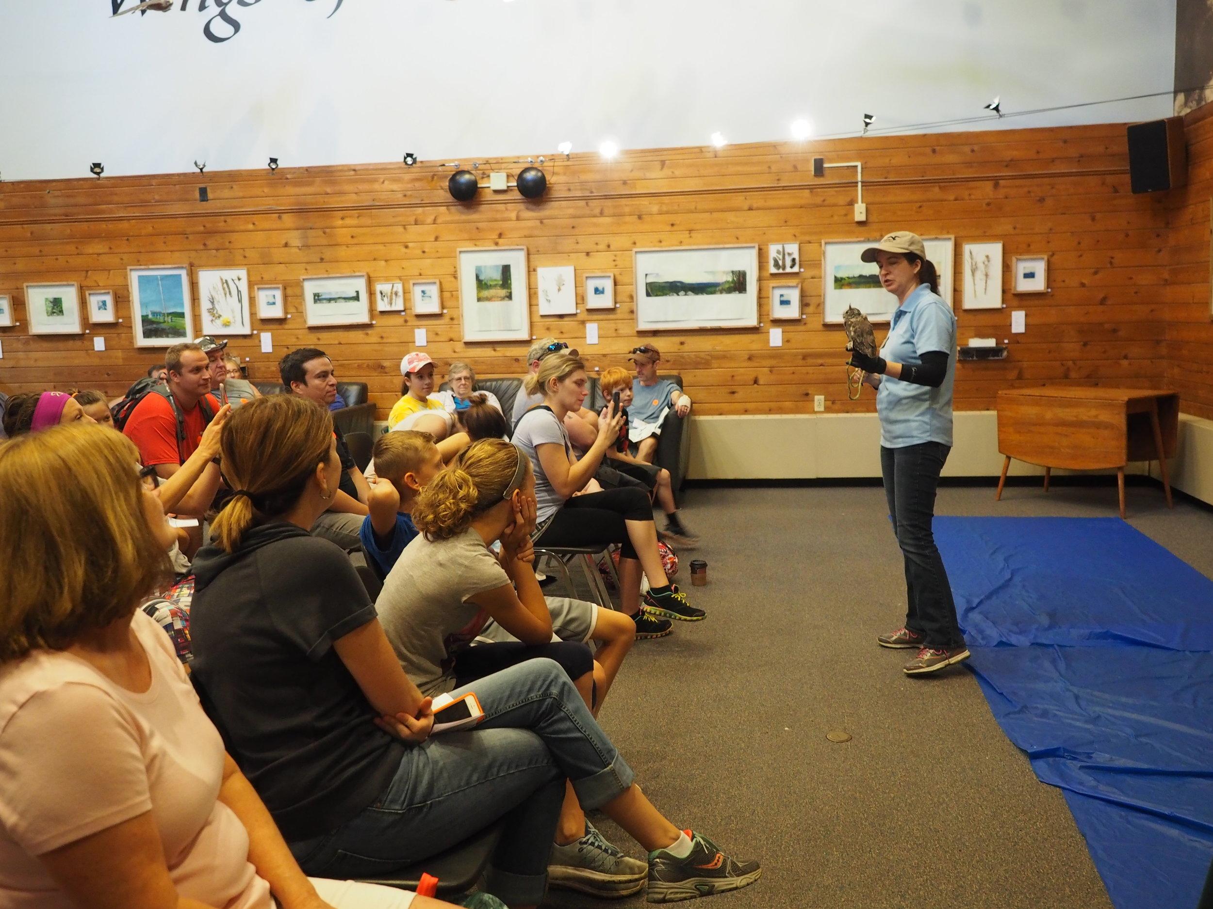 Andrea hosts a public Raptors Up Close program.