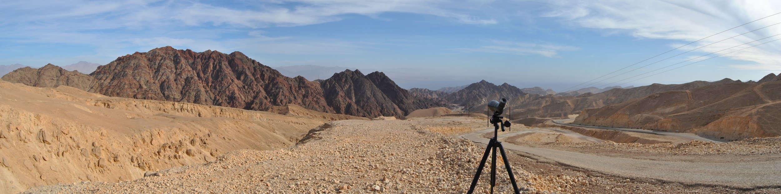 Counter station in the Eilat Mountains.
