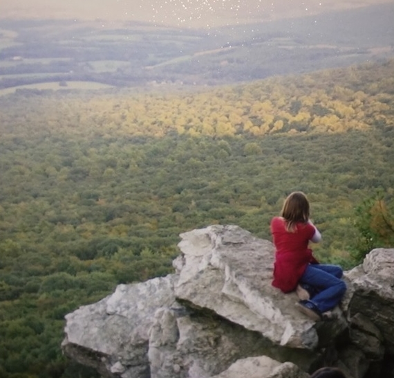Karissa at South Lookout as a child.