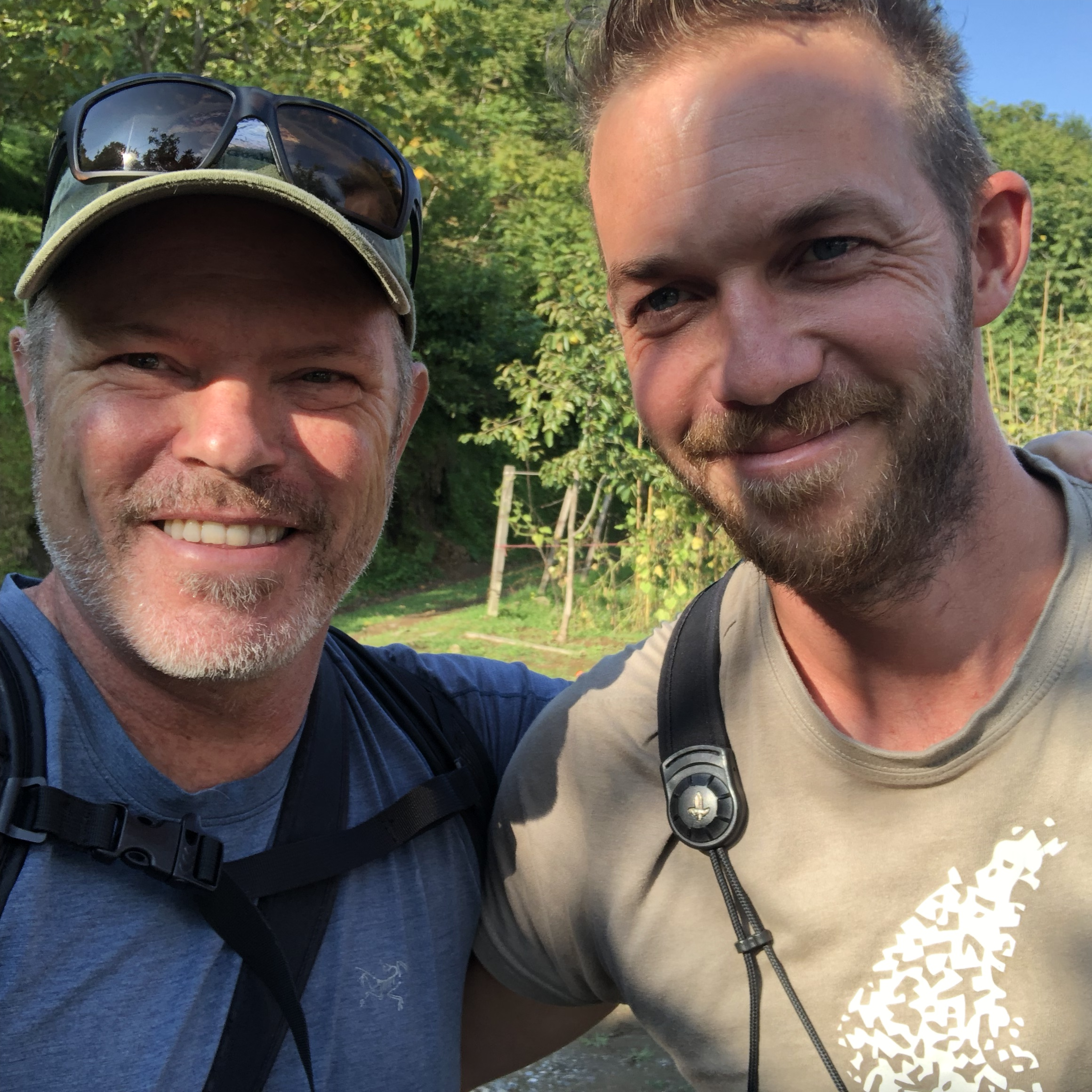Sean with Batumi Raptor Count founder and former HMS trainee Johannes Jansen.