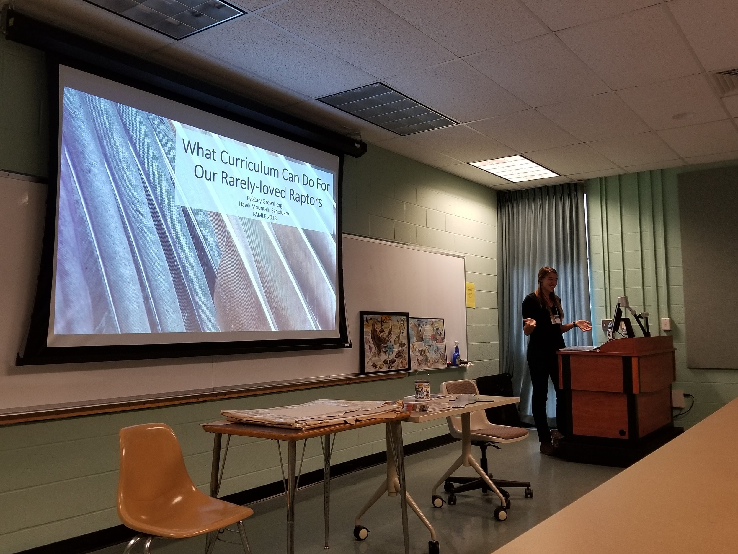 Zoey presenting during the PAMLE 2018 Conference