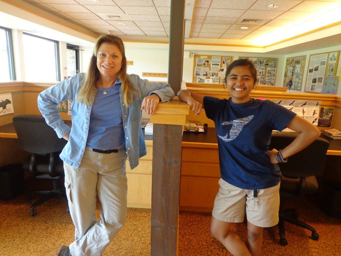 Dr. Laurie Goodrich and Pat posing in the Acopian Center Trainee Offices.