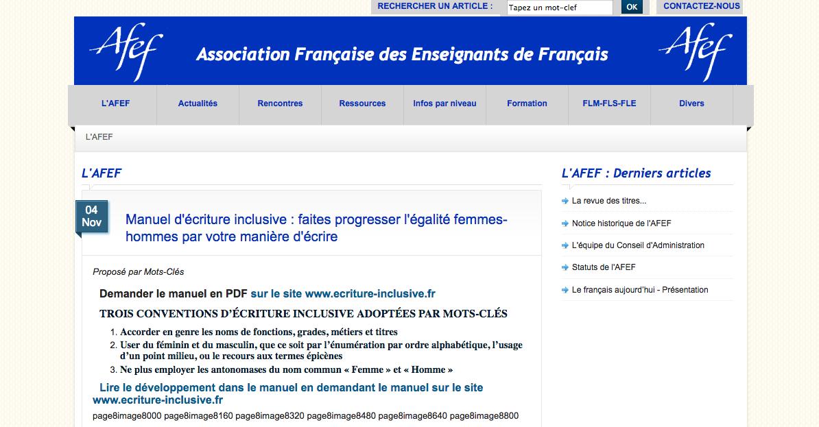 Association Française des Enseignants de Français (AFEF)