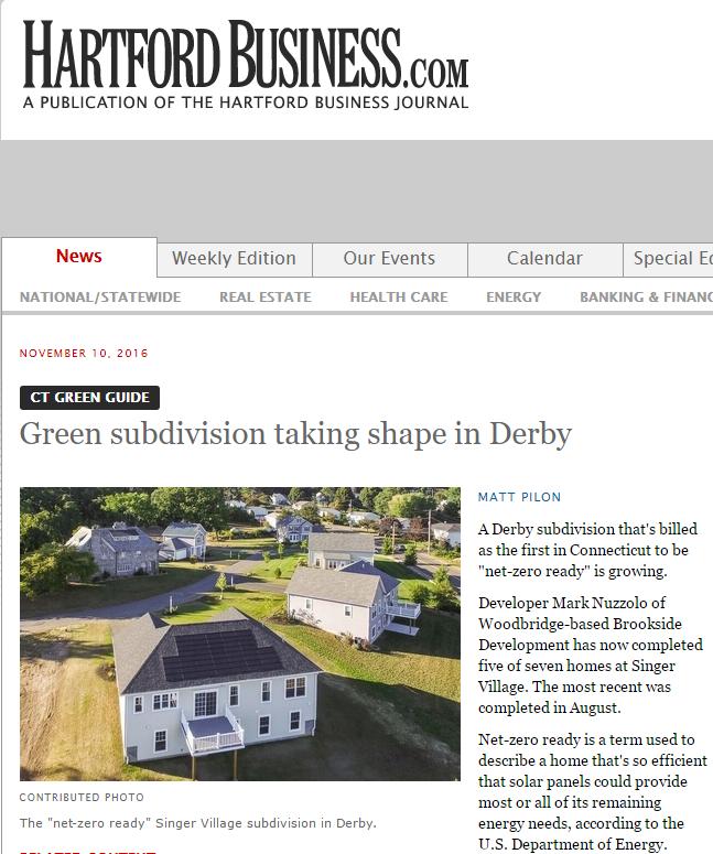 "The ""net-zero ready"" Singer Village subdivision in Derby."