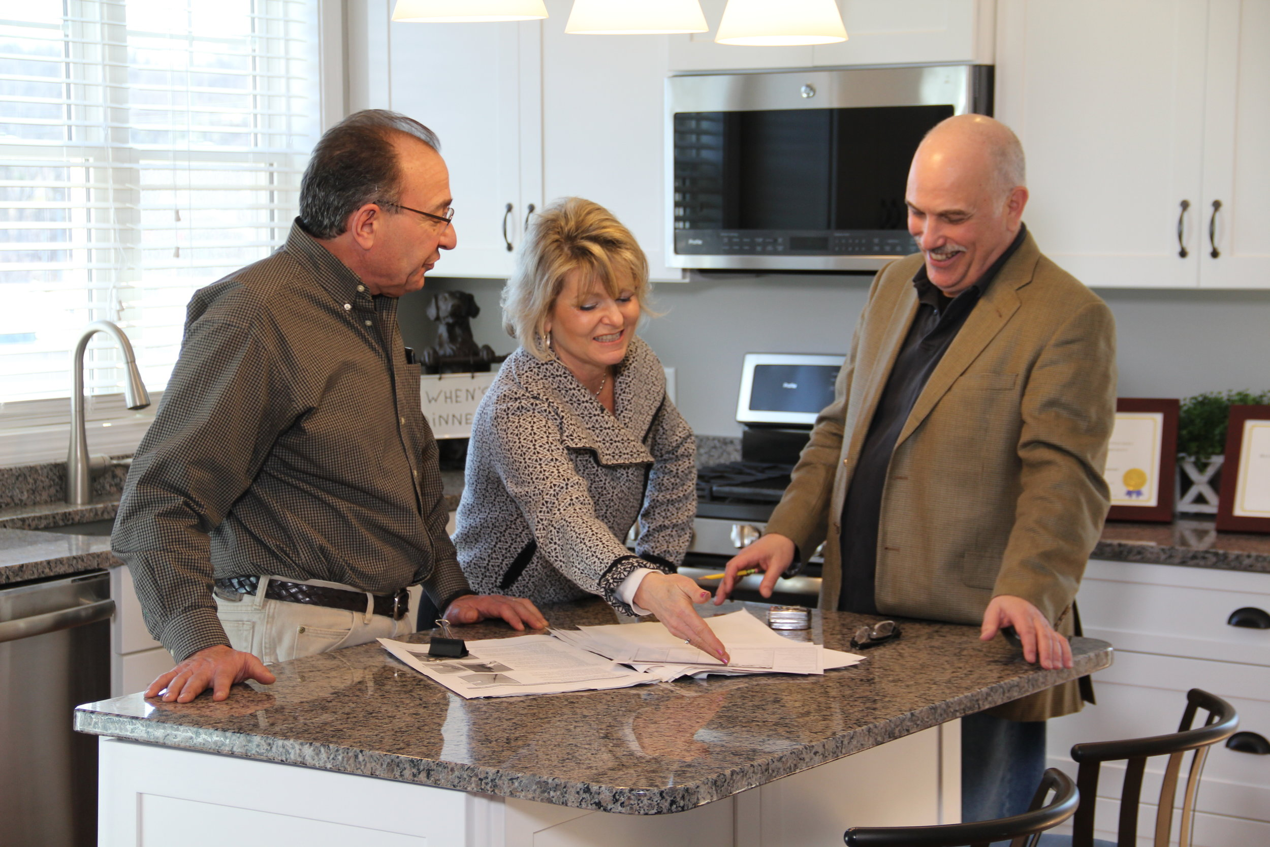 Homebuilders Mark and DJ with Architect Greg Wissman