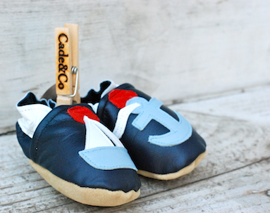 The MiA Project Bleu Garters Made in America Baby Shoes Cade and Co