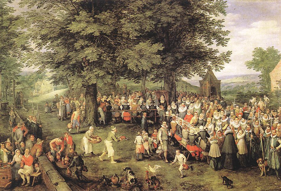 The wedding feast , unknown