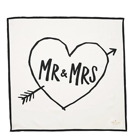 bridal-shower-gift-ideas-kate-spade-mr-mrs-scarf