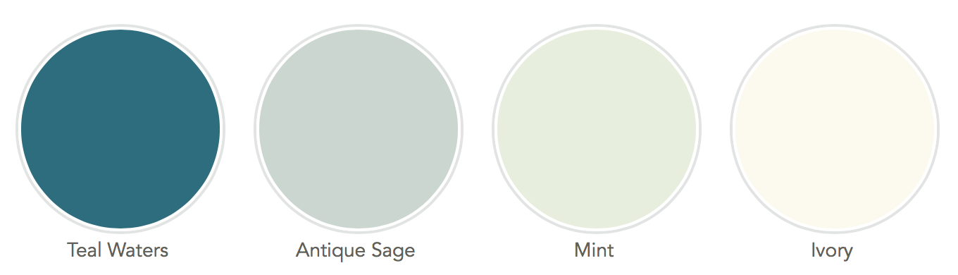 Teal, Sage, Mint and Ivory Wedding Colors