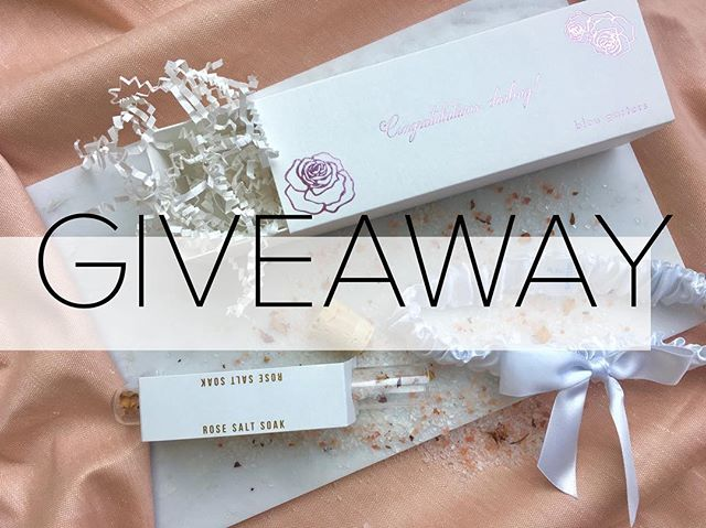 "It's a 💕 GIVEAWAY 💕 just in time for Valentine's Day!  To enter to win a bridal garter from @bleu_garters, a mini in-home ""cuddle session"" photo shoot from wedding photographer @michellelillywhite, a Valentine's Day flower arrangement from florist @with_flourish, and a rose bath salt soak from @urbapothecary, do the following:  1.) Like this post 2.) Follow @bleu_garters, @michellelillywhite and @with_flourish 3.) Tag an engaged friend (engaged couples in the San Diego and OC areas only please). Enter before midnight on the Wednesday the 13th. Winner will be chosen at random on Valentine's Day morning!  Good luck lovelies! ✨"