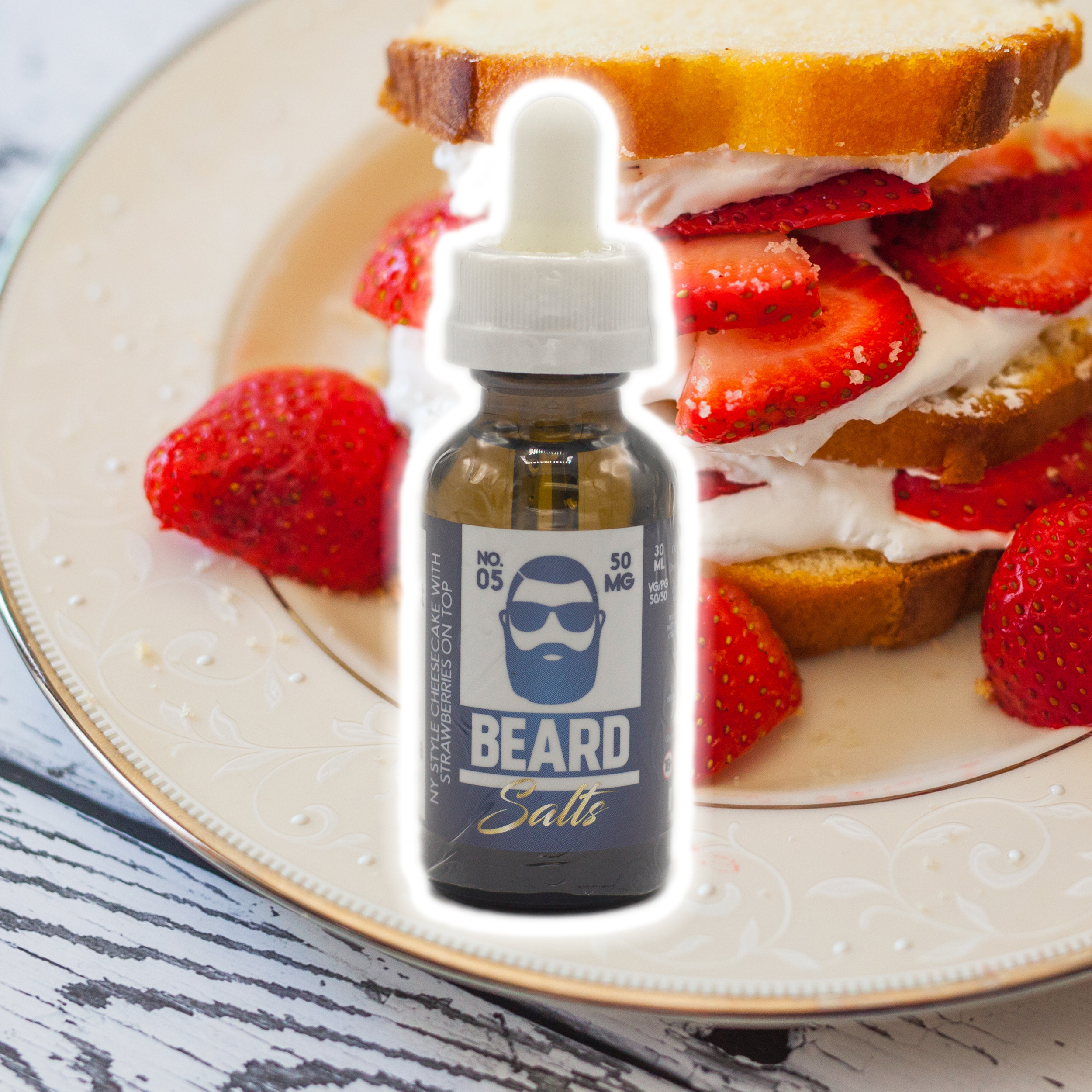 NY Style Cheesecake with Strawberries on Top - 50mg - Beard Salts