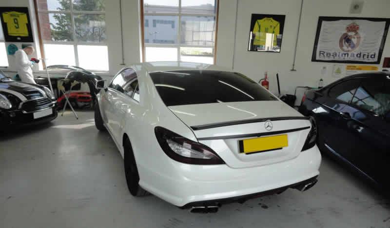 Mercedes bumper repair