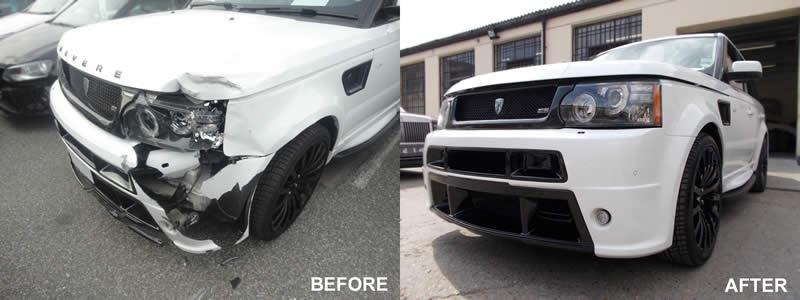 Range Rover bumper repair