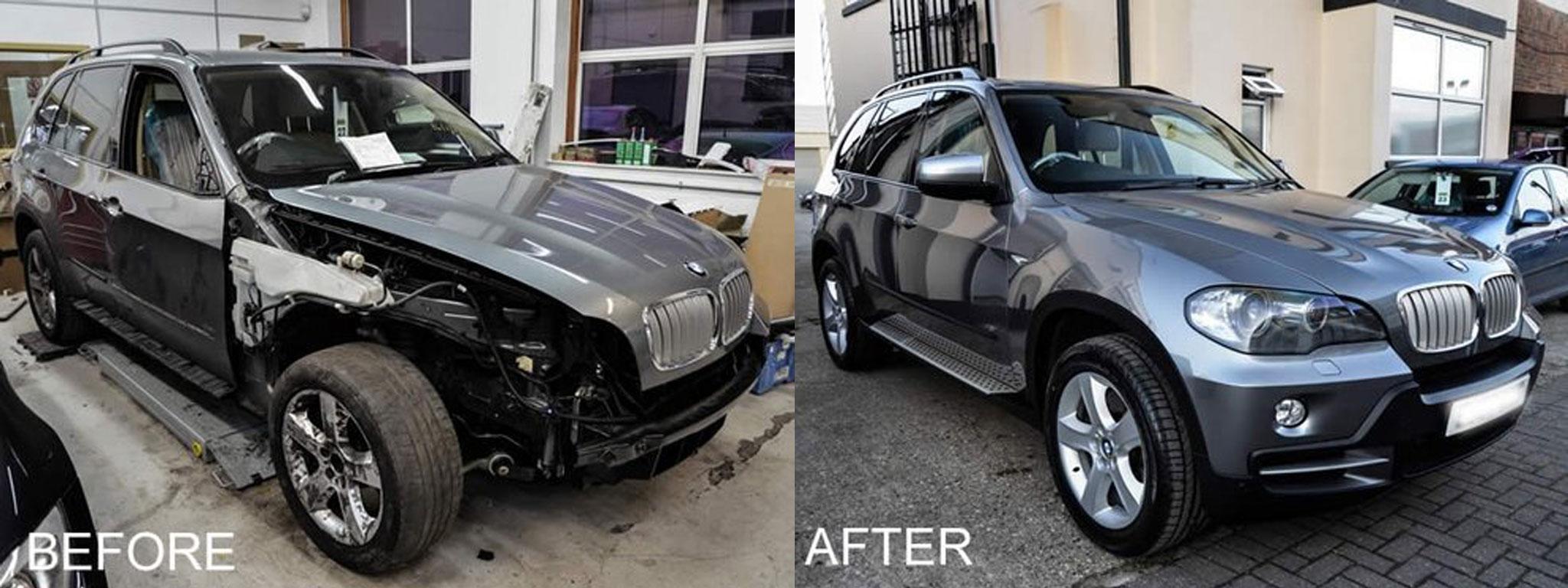 BMW repair bumper