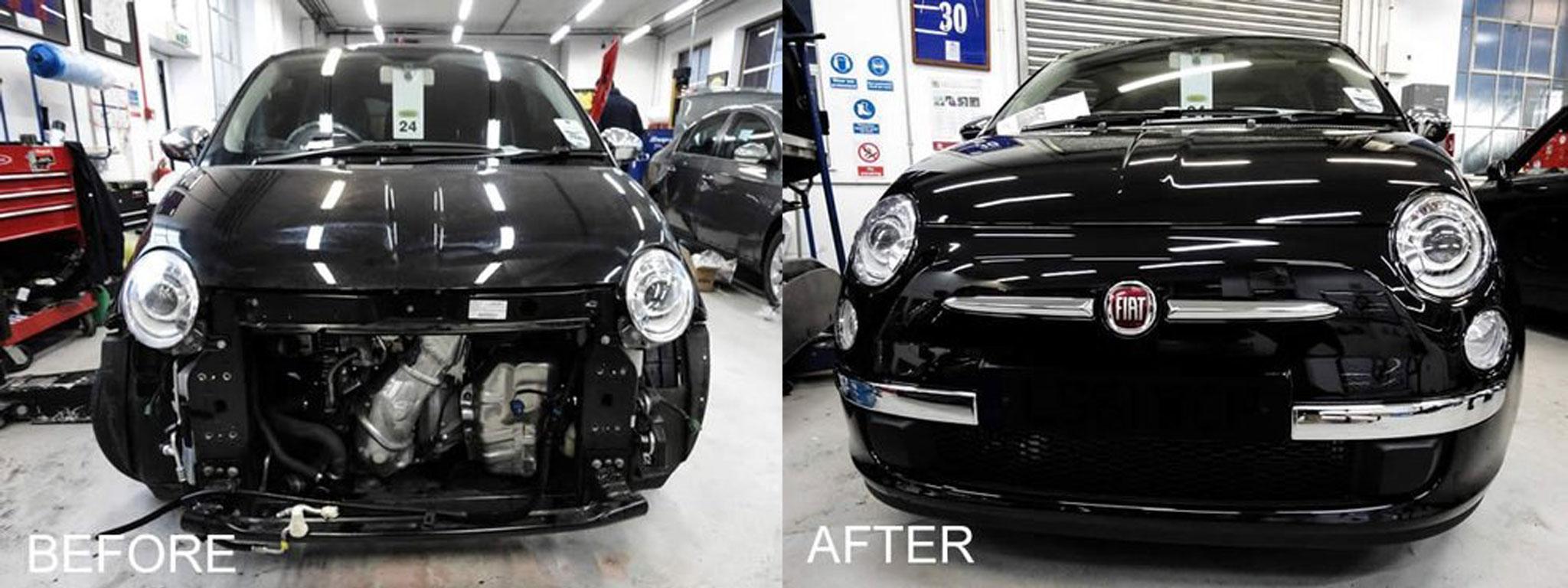 Fiat bumper repair