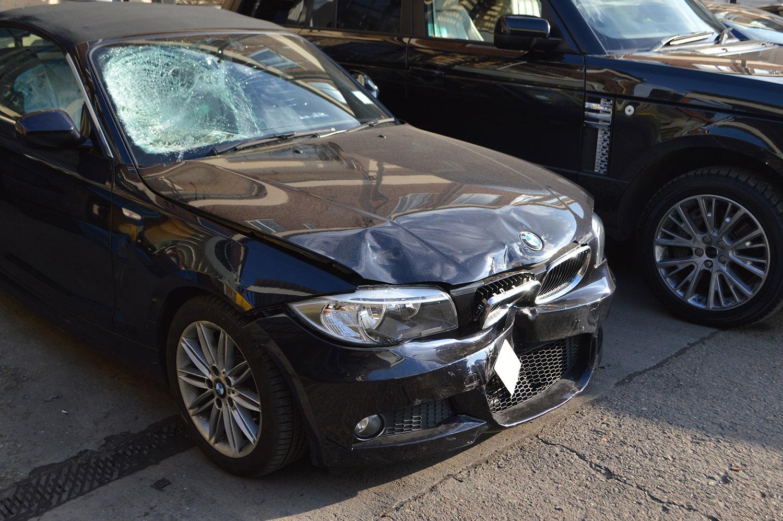 BMW bumper repair