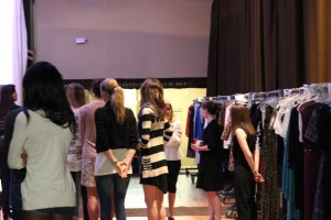 Back stage before the fashion show
