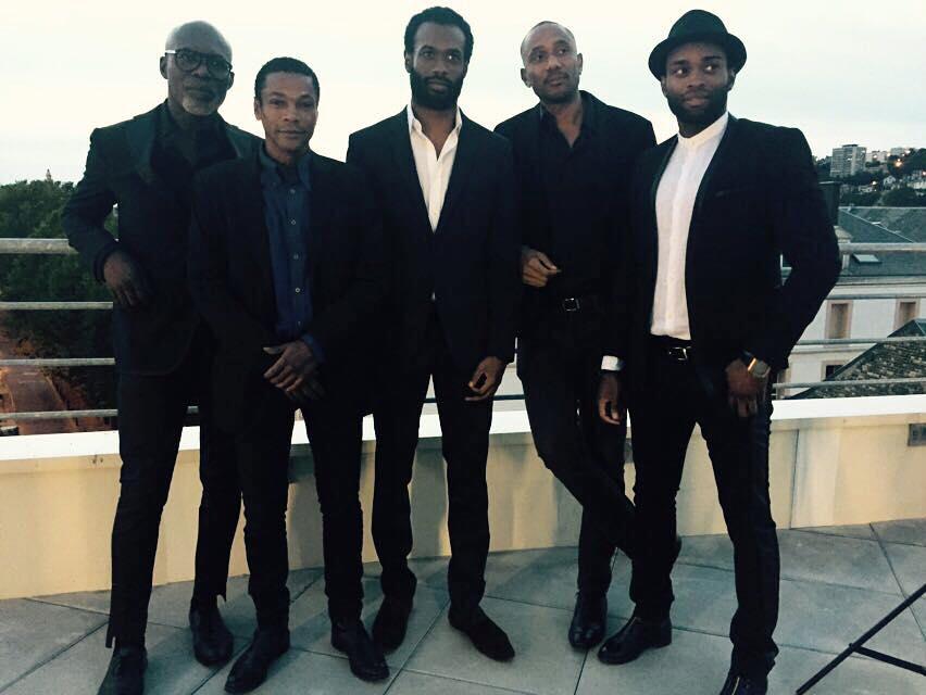 Erik Ebouaney (Politik), Adama Niane (Molokoy), Djedje Apali (Jimmy), Vincent Vermigon (Liko) et Djibril Pavadé (Jackson) en avant-première au Havre (24.09.2016)