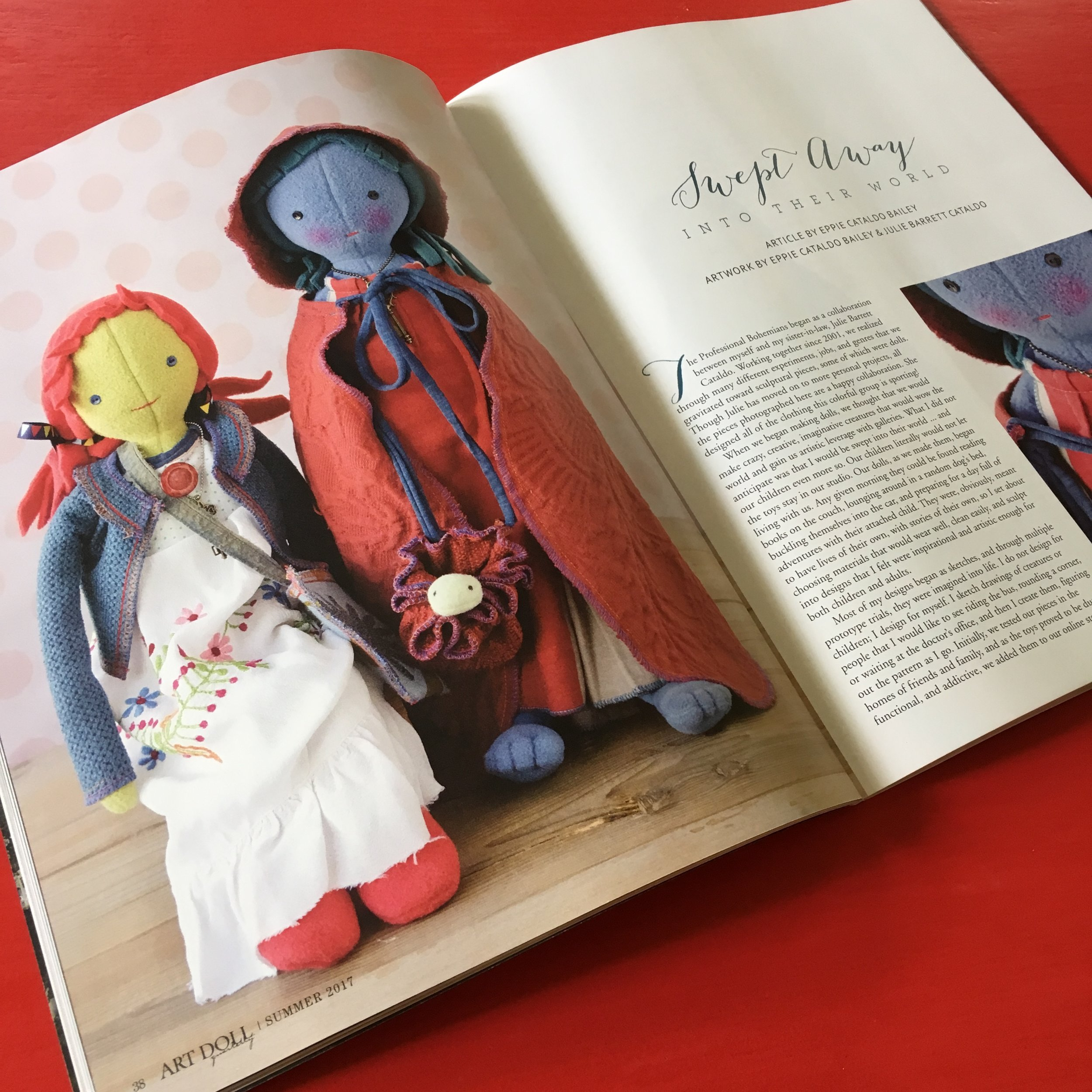 The Professional Bohemians in Art Doll Quarterly