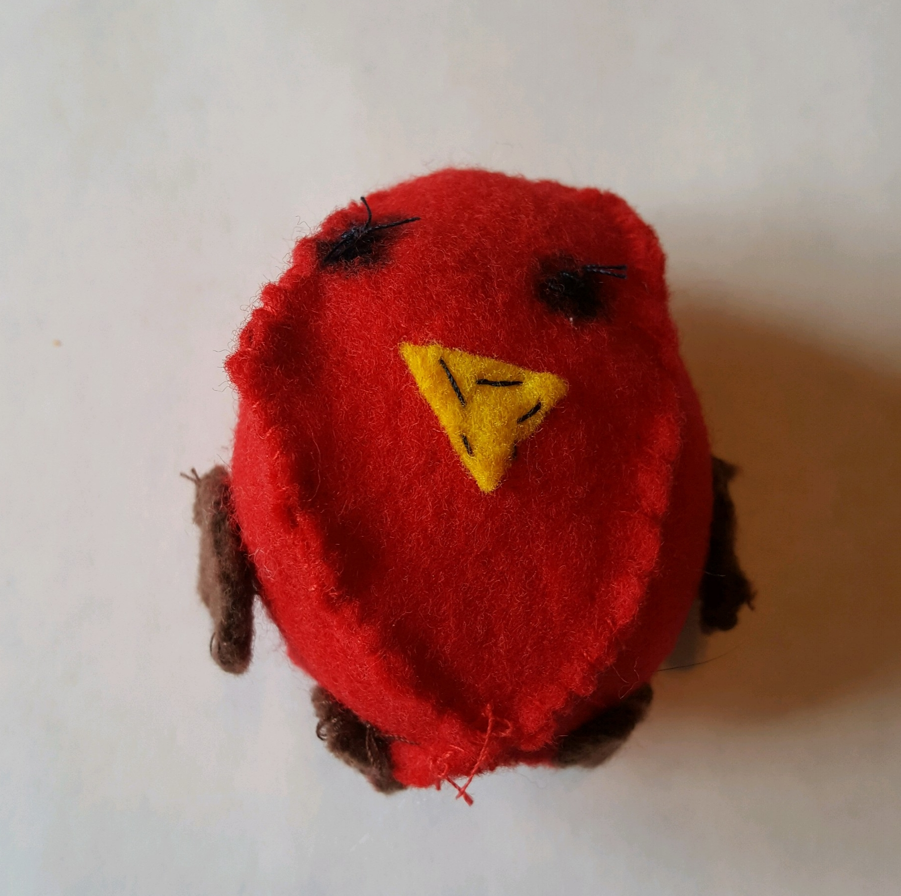 Cardinal, handmade (with lots of fussing) by Gabs
