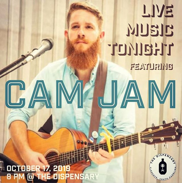 Join us on the rooftop tonight for beautiful weather and live music featuring Cam Jam! Music starts at 8PM. #downtownflorence #livemusic #rooftop #thedispensaryflorence #thursdaynight #thedispensary