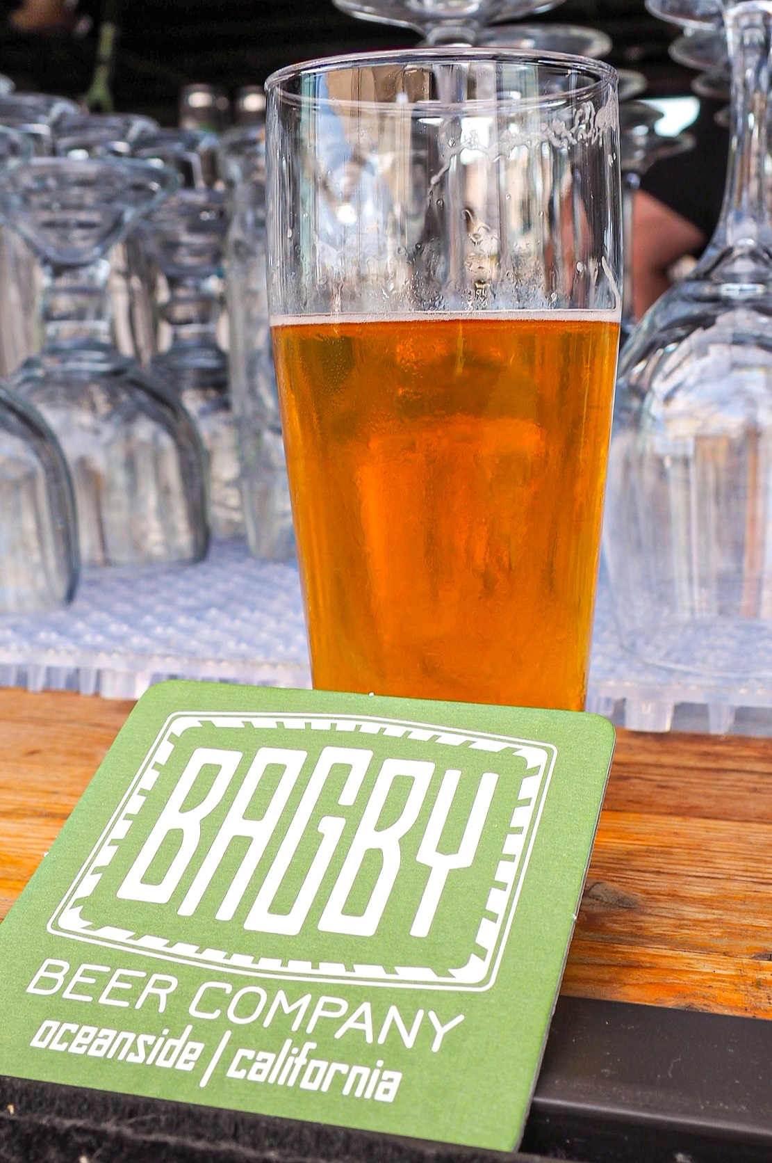 The rooftop patio bar at Bagby Beer Co. in Oceanside. Is there a better place to enjoy a summer afternoon?