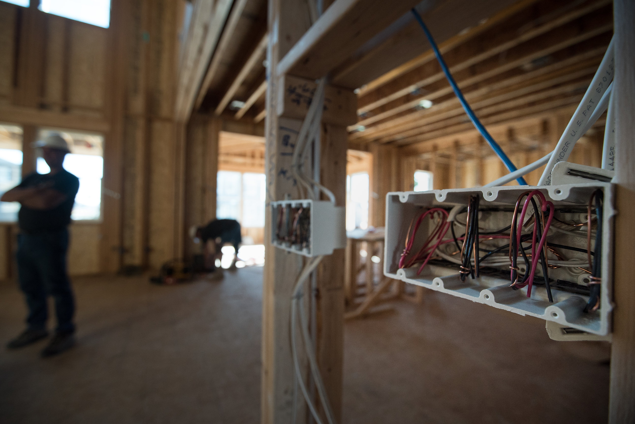Courtesy Electric provides professional electrical wiring and smart home integration for new home builds across the Colorado Front Range.