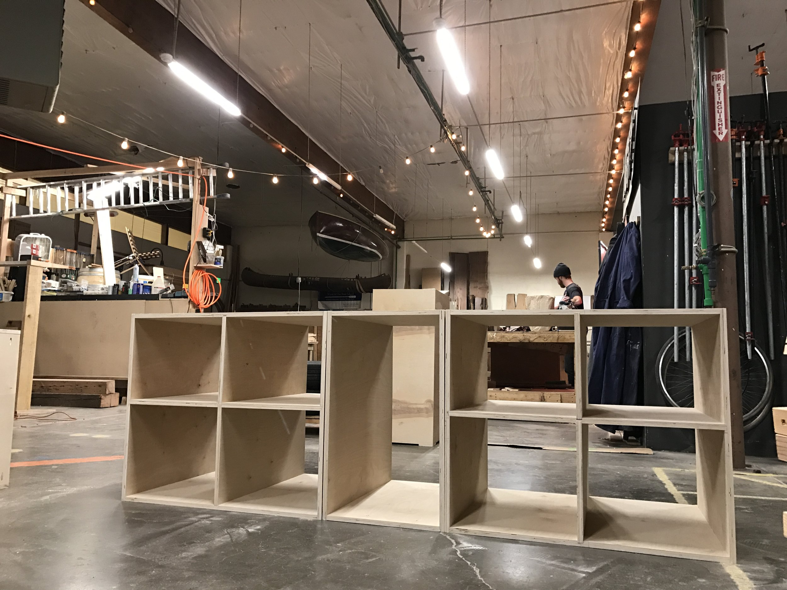 A little preview of our cabinetry we made at ADX.