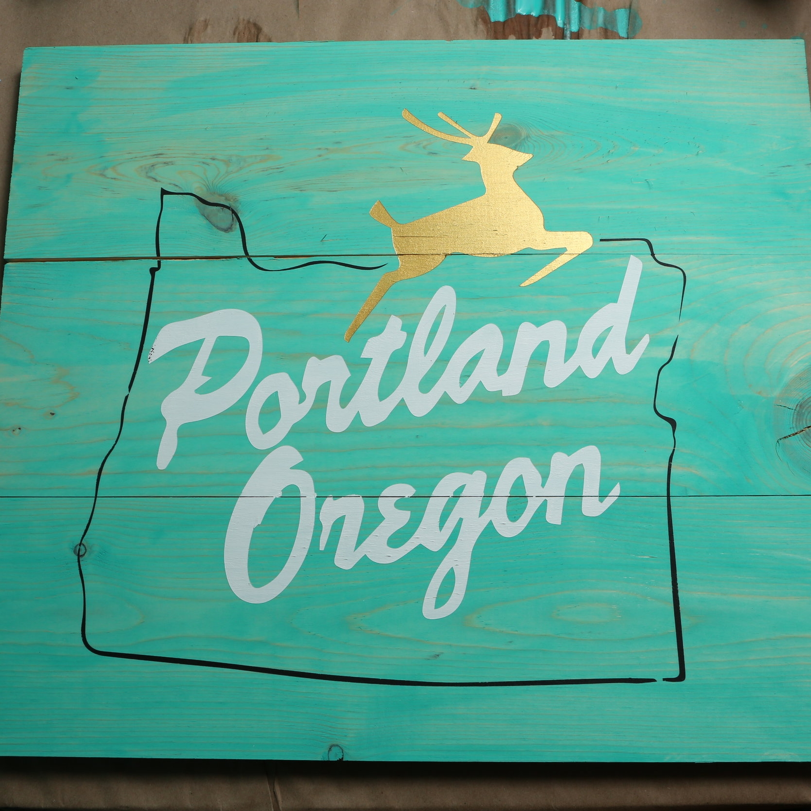 PAINTED SIGN - 2 - 3 HOURS (You can choose between this design, or a St. John's Bridge outline!)