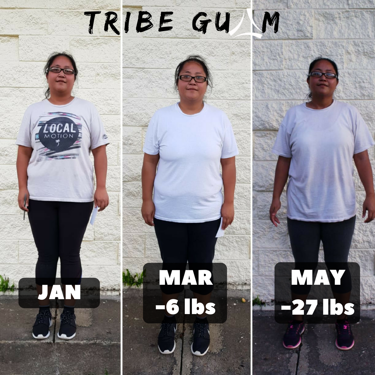 "Jona Madarang   ""This journey all started when I won a free 8 week fitcamp with coach Jason I really didn't know what to expect I wasn't physically active and was always over 200lbs since high school. My 1st camp I struggle with the meal plan I gave into those cravings and was only going to class twice a week but after seeing a fellow tribe sister drop her weight it really motivated & opened my eyes that consistency was the key. On my 2nd camp I stuck to the meal plan ,intermittent fasting & being consistent on coming to class  Without the love , support , & encouragement from my fellow tribe sisters & brothers I wouldn't be able to achieve my goal"""