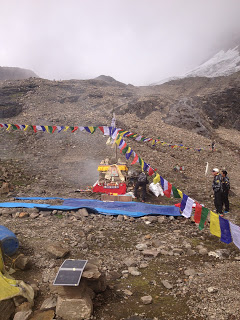 Our Sherpa team at the Chorten