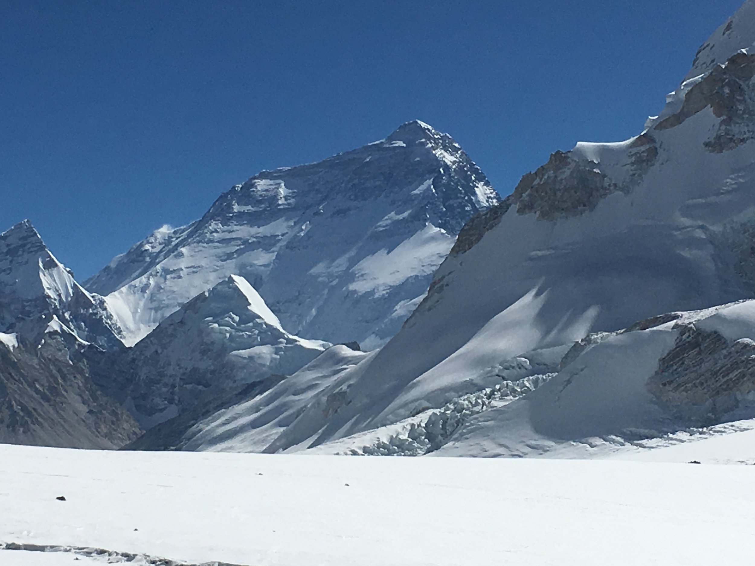 Everest's north face from Tharke Khang advanced base camp