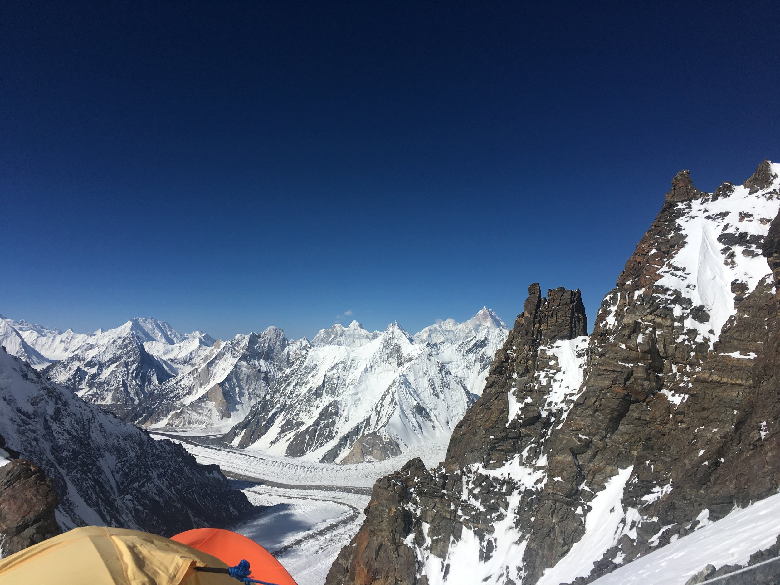 View from camp 1 19,700 feet