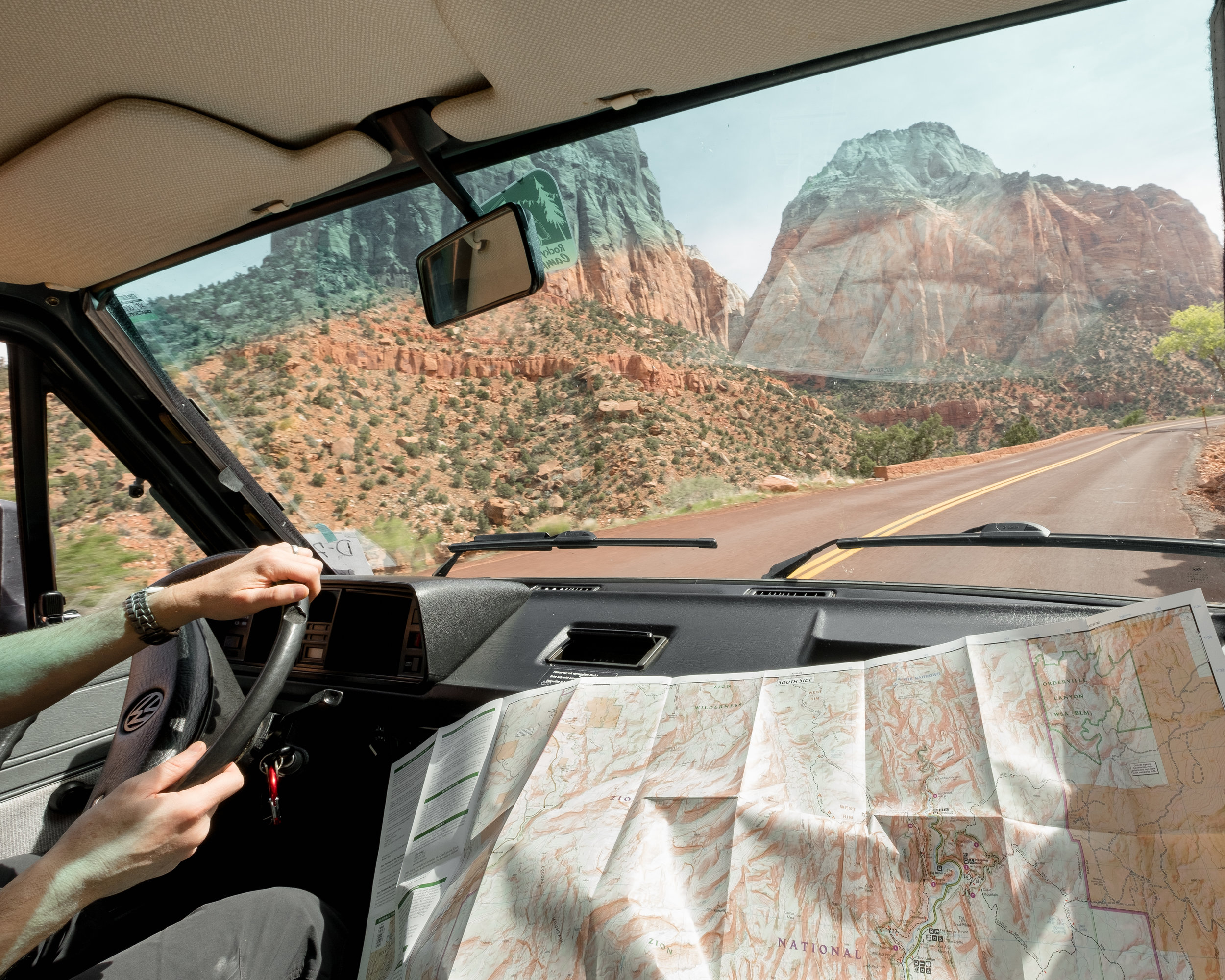Driving into Zion is a beautiful experience.