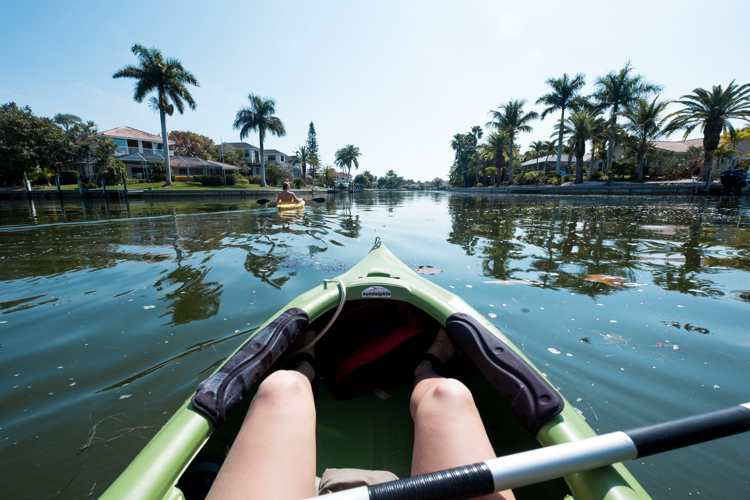 Kayaking in the canals on Sanibel.