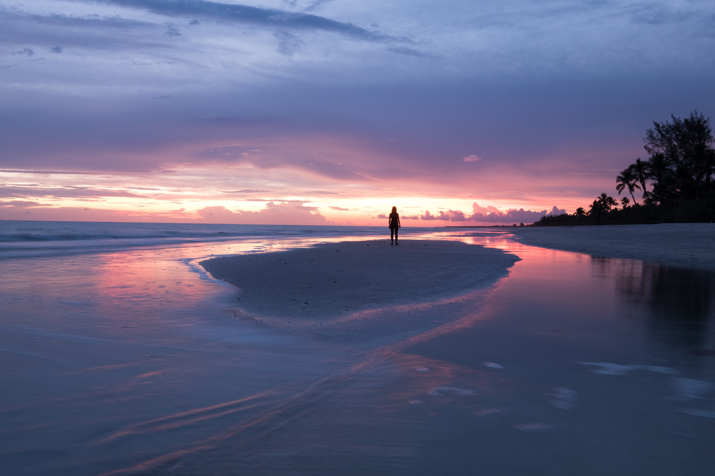 Sunset on Sanibel Island, low tide makes for the most interesting compositions.