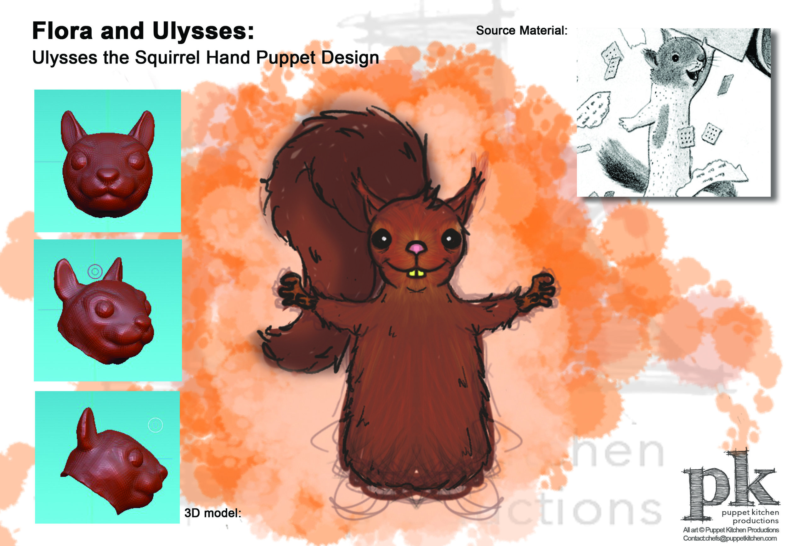 Colgate University's Children's Theater Workshop: Squirrel Design
