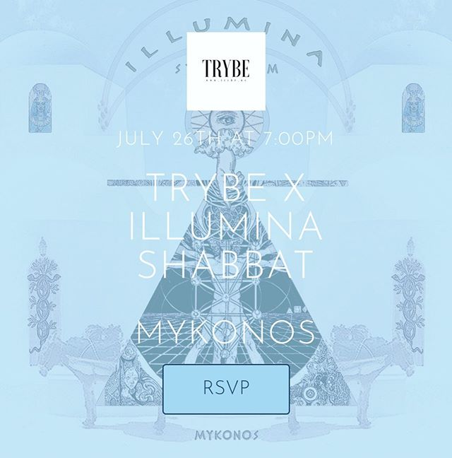 Trybe⏀Travels!!! Join us in the land of myth and legend next Friday night for TRYBExIllumina Sacred Sunset Shabbat on the hilltops of Mykonos🇬🇷 In partnership with our friends @illumina.tribe we are excited to join their annual Symposium and bring Trybe to European shores for the very first time!! We've planned an immersive experience of ancient rituals made new, breathtaking musical performances, mindfulness, connection and intention, followed by farm to table feasting and deep vibe DJ's to carry us through the night. We have @axelmansoor flying in to lead us in song, and a crew of close friends to host and lead alongside us; and with extra thanks to @ajsalty for being our Grecian connect and helping us find @athens_makerspace our incredible cause for the night!! Come expand, connect and dance with us on the Agean shore~~ Tix👉🏽trybexillumina.splashthat.com 👈🏽 and join us for the @illumina.tribe Symposium all week long~~ link on their site and use ILLUMINAxTRYBE for special discount code for our crew. If you're nearby this one's not to be missed.. and if you're looking for a spot to stay, reach out!! #trybevilla is going to be💫💫💫 #mykonos #illuminaxtrybe #shabbatshalom