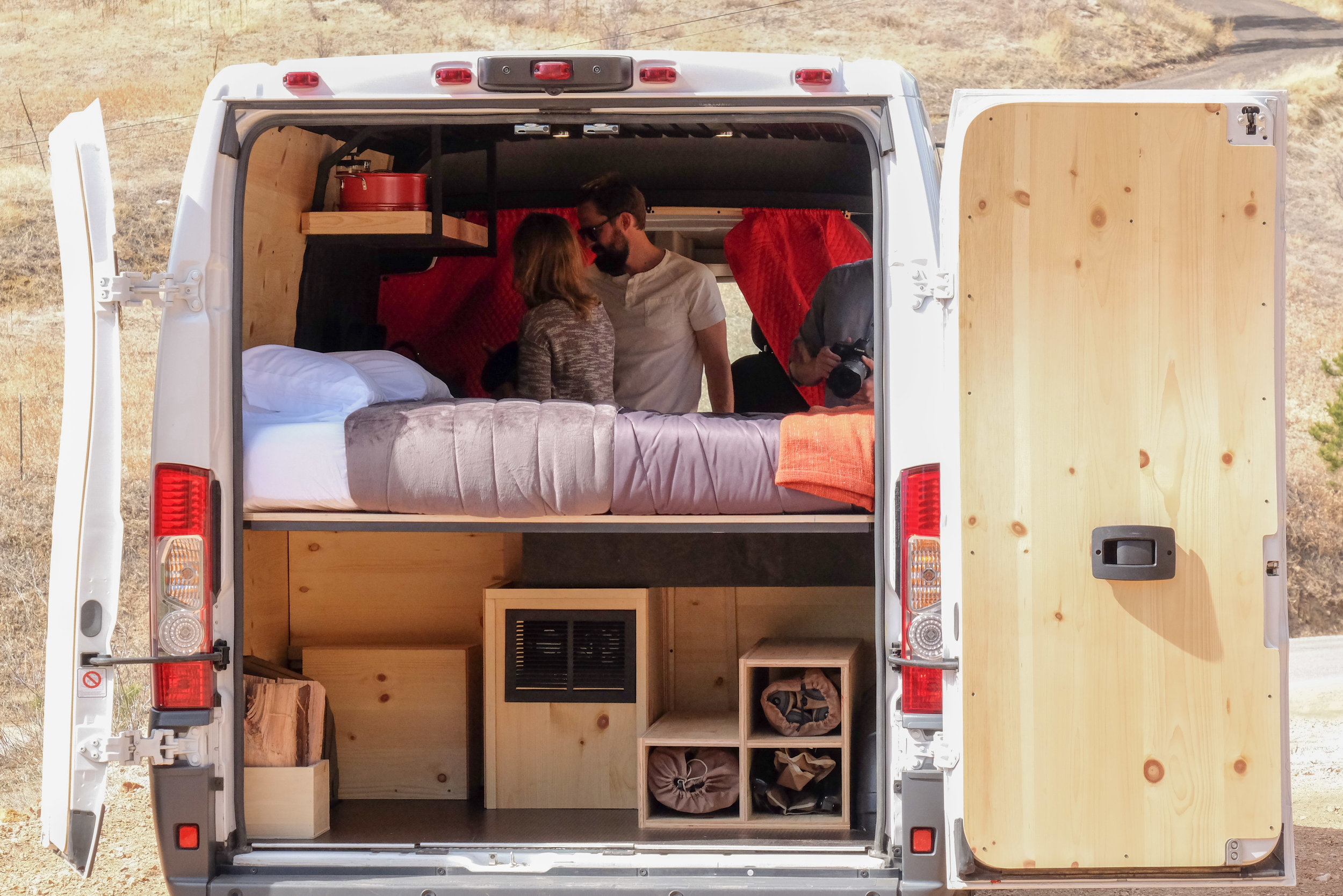 Open the back and you'll find a vast storage area to keep all of your getaway gear tucked in safely.