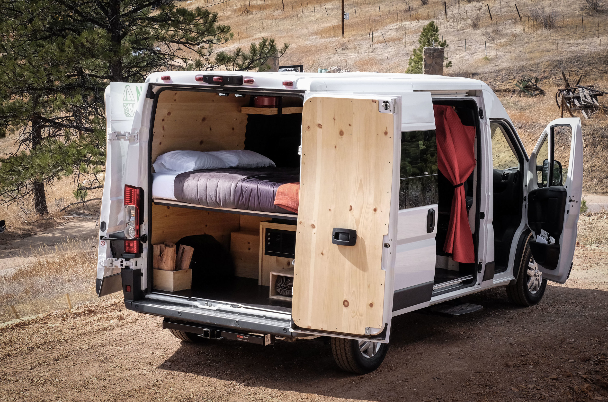 Timber opens up to create a usable and sharable space while on the trail or in the park.
