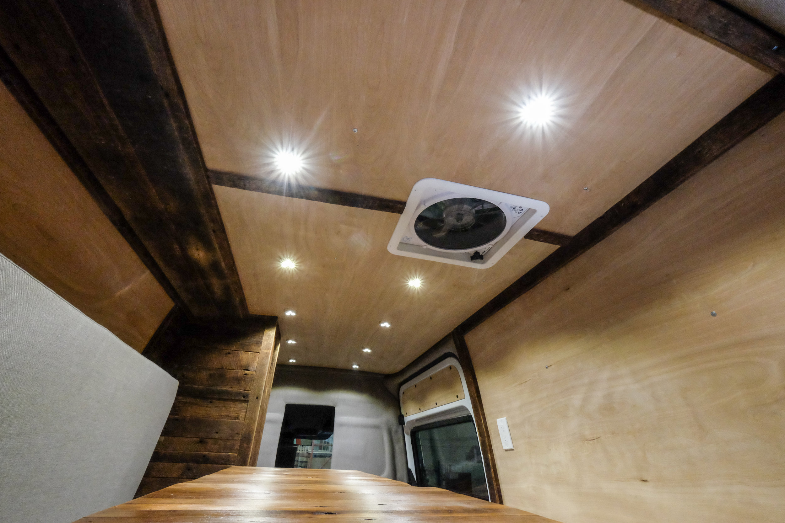 We've added extra insulation along with a diesel powered heater that's run on a thermostat to be even more efficient. All of this plus various custom woodwork makes this feel like your cabin away from home.