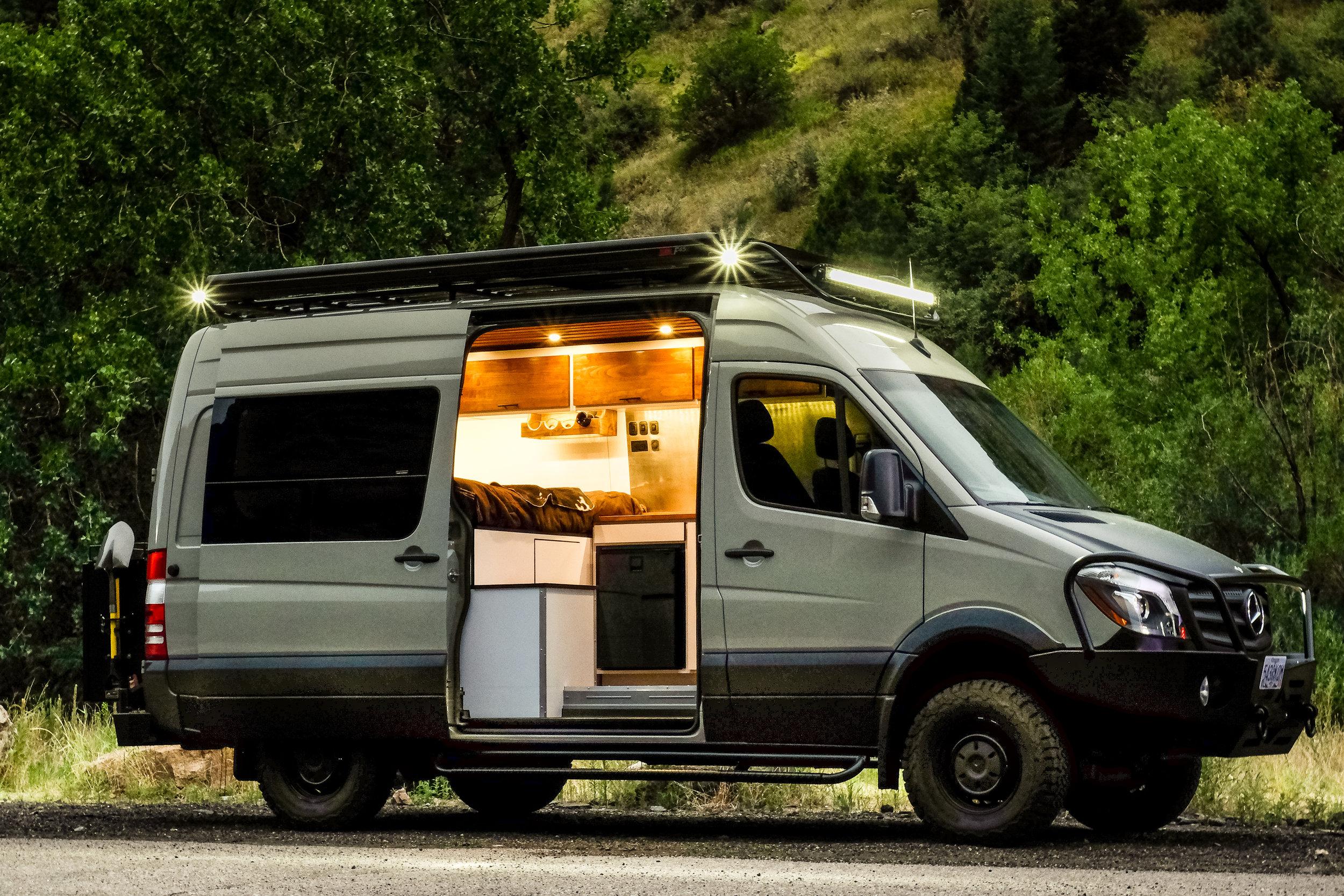 """Vanlife Customs: 144"""" Mercedes Sprinter 4x4 Conversion Van"""